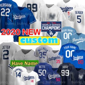 양키스 99 아론 판사 유니폼 10 Justin Turner 14 Enrique Hernandez Dodgers Mookie Betts Clayton Kershaw Derek Jeter 2020 맞춤 맥스 맥스