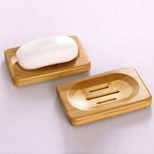 Trapezoid Natural Plate BamboO jabón de bambú para soporte de almacenamiento baño baño baño Reino Unido Bambú y jabón de madera Caja para baño1