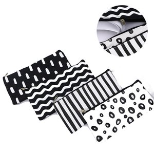Stripe Pencil Bag Pocket School Cosmetic Makeup Pencil Pen Organizer Bag Case Pouch Office School Supplies GWB2240