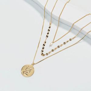Collana multistrato da donna Collana naturale Acqua fresca perla perla gioielli collana gioielli