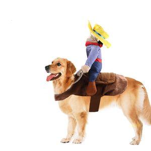 SEİS Pet Binme Kostüm Yenilikçi Pet Kovboy Rider Binicilik tasarlanan Köpek Kıyafet Parti Giyim Halloween kadar Giyinme Malzemeleri