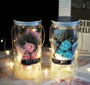 Soap Rose Led Soap Flower Plastic Bottles Wedding Artificial Flower Valentines Day Mothers D jllBsR bdefight