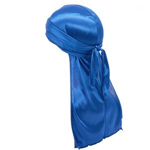Stretchable Luxury Silky Soft Durag Headwraps With Long Tail And Wide Straps Imi tation Satin Silk Durag Headband Wave Ca ps1