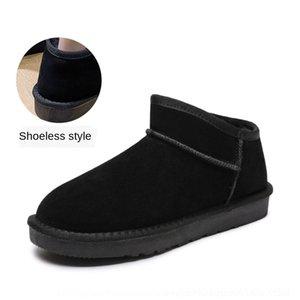 Wlyn Bottes Nouvelle qualité Hiver Mode Hommes Snow Chaussures Split Cuir Cuir Bravover Bottes d'extérieur en peluche à fourrure chaude Plus la taille