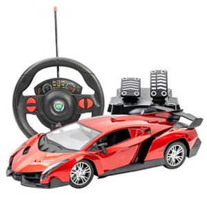 Charging Remote Control Pedal Steering Wheel Gravity Induction Drift Racing Car Children's Toys Christmas Gift 201203