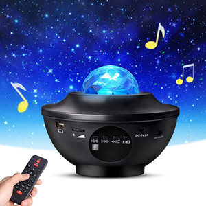 Bluetooth Potente proyector Galaxy con altavoz LED STARRY SKY STAR STAR LIGHTRO LUZ DE PROYECTOR CON CONTROL REMOTO
