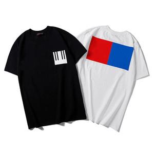 2021 Mens Designer T-Shirt Mode Lässig Wild High Quality Womens Sommer Geometrie Quadratischer Druck Baumwolle Runder Kragen Kurze Ärmel T-Shirts