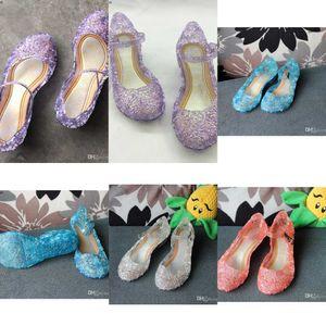 FactoryC28VChildren Fashion Girl Girl Princesse Sandales Anime Chaussures Cosplay Lolita Sweet Children's Chaussures Wedge Holl
