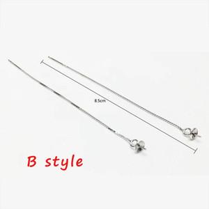 925 Sterling Silver Ear Line 8 12cm Earrings Chain Charm For Diy Jewelry Making Finding Long Tassel Earring Accessoriessupplier H jllSci