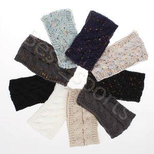 21 Colors Knitted Crochet Headband Women Winter Sports Hairband Turban Head Band Ear Warmer Beanie Cap Festive Party Hats CYZ2864