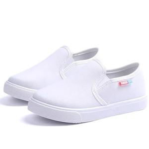 JgshowKito Fashion Unisex Kids Canvas Scarpe per ragazzi Girls Casual Sneakers per bambini Soft Breas Traspirable Boys Flats All-Match 27-38 201202