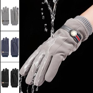 Winter Womens Gloves Skin Feel Leather Windproof European and American Designer Gloves Mens Winter Gloves
