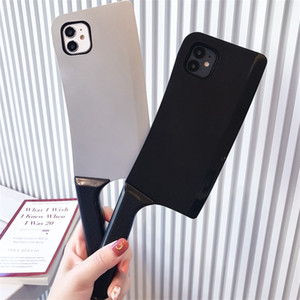 Cute 3D Cartoon Kitchen knife Phone Case For iPhone 11 12 Pro Case SE 11 Xs Max 7 8Plus Funny Kitchen Knife Shape Pattern Soft Cover