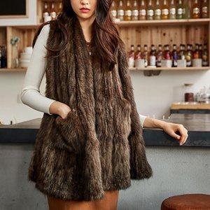 Sable Collaar mink series female scarf winter new style fashionable and warm fur scarf shawl Size:180*40cm