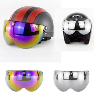 capacete moto Bubble Lens Visors Windshield PC Lens Anti-Rain Motorcycle Helmet Face Shield Glasses Classic Bubble Visor BV06