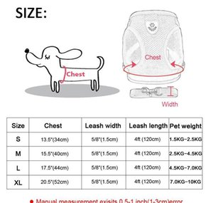 Dog Harness For Small Medium Dogs Nylon Mesh Puppy Cat Harnesses Vest Reflective Walking Lead L bbyirD warmslove