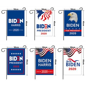 Election Flag 30*45cm Garden flag 8 Styles Blue White Letters Print Graden Banners Decoration Boutique 2020 president NEW E111103