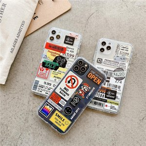 Fashion Retro Tag Shockproof TPU Case for Iphone 7 8 X 11