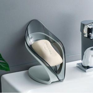 2020 NOUVEAU Savon de feuilles Savon de stockage en forme de vidange en forme de vidange de la boîte de savon organiser des accessoires de cuisine de salle de bains non perforée