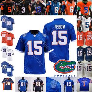 Özel Florida Gators Futbol Jersey NCAA Koleji Aaron Hernandez Tim Tebow Emmitt Smith Kyle Trask Toney Malik Davis Pierce Kyle Pitts