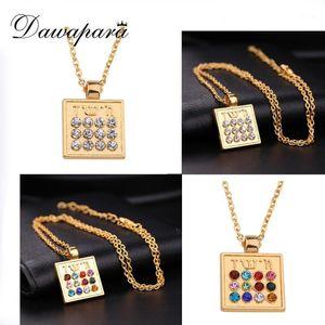 Dawapara Judío 12 Tribuidades Llenado Collar Colgante Antiguo Plateado / Dorado Religioso Supernatural Talisman Amulet Jewelry1