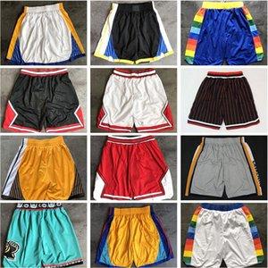Top Quality 2020 Team Basketball Shorts Homens Shorts Pantaloncini Da Cesta Esporte Sport Calças Colégio Preto Vermelho Vermelho Roxo Uniforme Vermelho