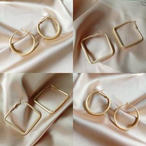 Geometri Büyük Kare Şekli Küpe S925 Gümüş İğne Lady Kulak Çiviler Basitlik Küpe Moda Aksesuarları Oymak 2 73lya P2