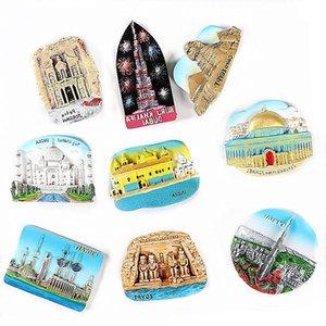 magneti del frigorifero 3d tour mondiale adesivo Egitto Piramide souvenir India Dubai Israele Bali Kuwait turistiche adesivo frigorifero magnetico