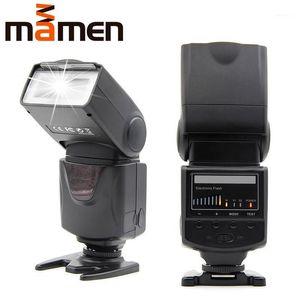 Mamen KM-680 Speedlight كاميرا فلاش ضوء 5600K LED مصباح مع ملء ضوء ل DSLR 5D2 60D 70D D5300 D7200 The Flash1