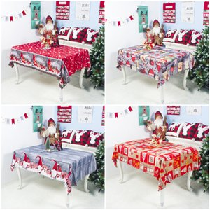 DHL New 7Styles Christmas Tablecloth Christmas Cartoon Polyester Tablecloth Washable Party Decoration Table Cloth 150*180cm Good Quality