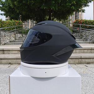 2020 Новое Прибытие Мотоцикл Шлем Унисекс Полное лицо Шлем Moto Casco Зимний Сезон Безопасность Черная точка утверждена1