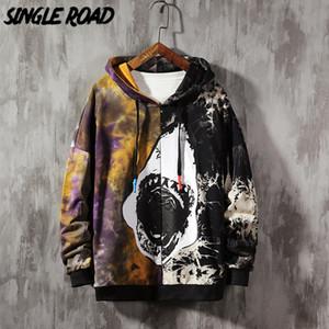 SingleRoad Oversized Mens Hoodies 2020 Tie Dye Patchwork Shark Sweatshirt Hip Hop Japanese Streetwear Harajuku Hoodie Men Q1117