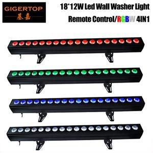 TIPTOP 4XLOT 18x12W RGBW светодиодный Под кабинетом 100см Газ 4IN1 Шайба стены Accent освещение Крытого DMX 8CH Беспроводной пульт