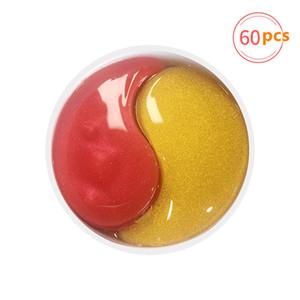 60pcs Couleurs Collagen Eye Masque Algue Green Algae Eye Patchs pour le cercle sombre Hydratant Eye Pad anti-rides Nourrissant