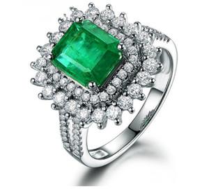 fashion up-market 2pcs lots low price high quality 925 silver diamond crystal blue lady's ring sz 6-10