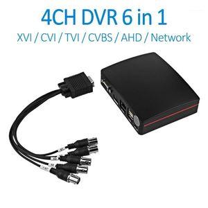 Kits Doerguin 4ch Tvi XVI CVI AHD التناظرية شبكة فيديو رقمي مسجل 6 في 1 2MP سوبر مصغرة DVR XMEYE APP بطاقة TF USB HDD Record1