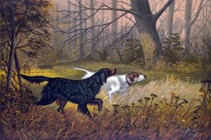 Büyük av köpekleri, Çerçeveli Çerçevesiz EV DEKOR% 100 El boyaması Hayvan yağı Tuval Wall Art Pictures ER64 On boyama