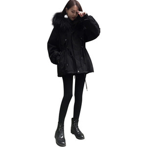2020 New Winter Women Jacket Fashion Thick Warm Solid Color Cotton Coat Top Quality Hat Detachable Outwear Windbreaker 2 Colors Size S-4XL
