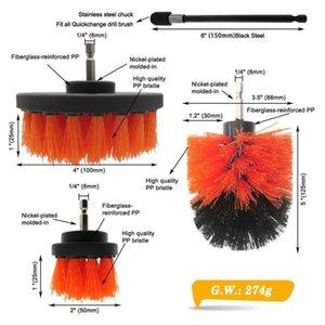 4pcs / set Power Scrupber Drill Brush Kit فرشاة تنظيف كهربائية مع امتداد للسيارة، الجص، البلاط، حمام، مطبخ Q Jllhmk