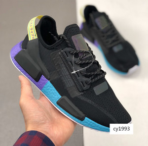 wholesale NMD R1 V2 Stripe Brand Punchy Neon summer breathe designer trainer for Men Women Running shoes Sport sneaker