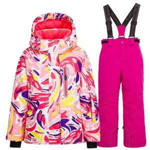 Kid Waterproof Windproof Hooded Warm Snow Pants Suit Girls Boys Winter Outdoor Sports Ski and Snowboard Jacket