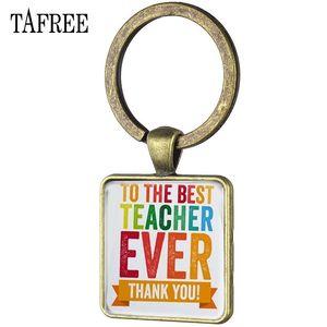 Best Ever Anahtarlık Vintage Kare Shape Tafree Tutucu Fq472 Anahtarlık Sen Öğretmen Hediye Anahtarlık ederiz