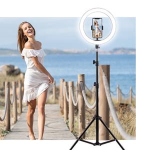 16 20 26 30CM Selfie Ring Light With Tripod Profissional LED Ring Lamp To Make TikTok Youtube Photographic Lighting Makeup NE029 C1002