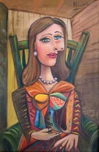 PABLO PICASSO senhora Decoração pintado à mão HD impressão pintura a óleo sobre tela Wall Art Canvas Pictures 201116