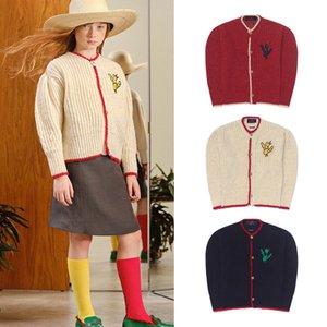 EnkeliBB Children Winter Knitted Coat TAO Kid Vintage Cardigan European and American Style Girl Long Sleeve Coats TAO 201110