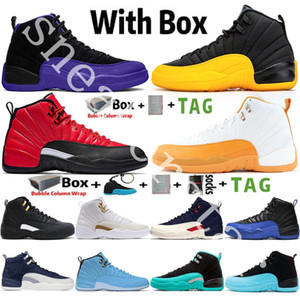 Air Jordan Retro 12 12s Université Jumpman d'or FIBA ​​OVO Hot punch Royal Game Gamma Bleu 12 12s chaussures de basket-ball Hommes CNY Taxi DMP Hommes Sport Designer Sneaker 7-13
