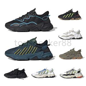 Hohe Qualität König Push Ozweego Herren- und Damenlaufschuhband Seam Age Packung Reflektierende Xeno Black Light Teal Pusha T Sneaker