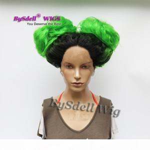Hot Sexy celebridade Nicki Minaj Anime Chun Li Penteado peruca sintética Ombre Cor Drag Queen peruca dianteira do laço Perucas por Homens