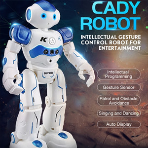RC Intelligent Programming Remote Control Toy Biped Humanoid Children Kids Birthday Gift Smart Robot Dog Pet LJ201105