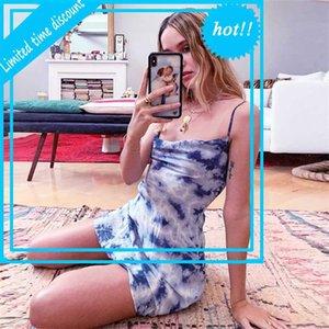 Le donne step mini fashion tie-dye bodycon night club corto vestito estate sexy abiti da estate